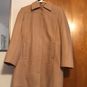 Wool dress coat with lining
